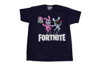 Fortnite Childrens/Kids Bunny Trouble Short Sleeve T-Shirt (Navy)