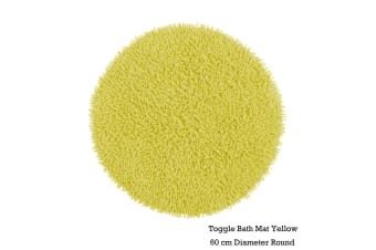 Toggle Bath Mat Round Yellow by IDC Homewares