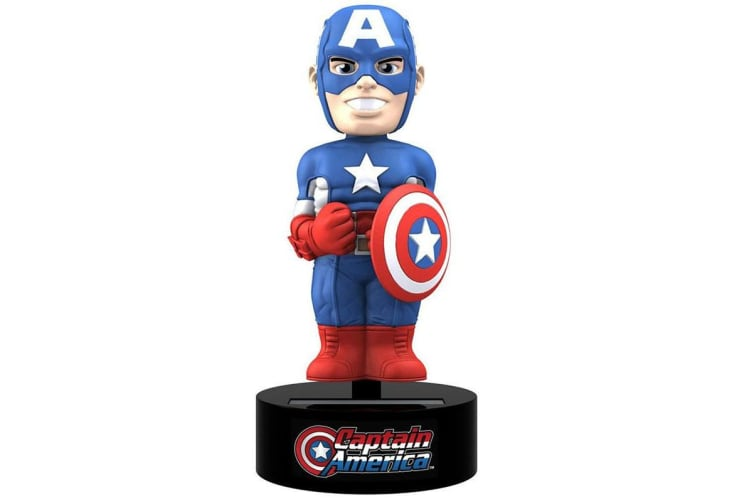Captain America Retro Character Body Knocker (Case Of 12) (Multicoloured) (One Size)