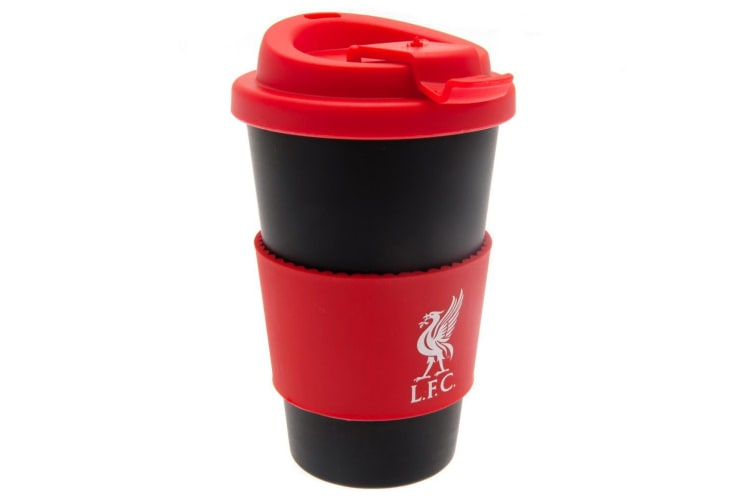 Liverpool FC Silicone Grip Travel Mug (Black/Red) (One Size)