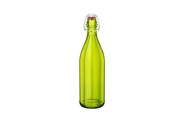 Bormioli Rocco Oxford Bottle with Top 1L Green