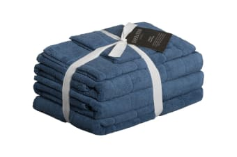Sheraton Subway Textured 5 Piece Towel Set (River Blue)