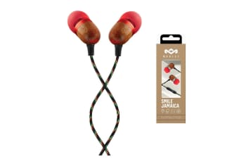House Of Marley EM-JE041-FIE Smile Jamaica Wood In-Ear Headset Earphones w/ Mic