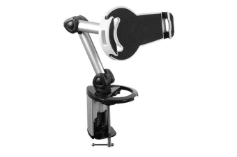 Brateck 2-IN-1 Aluminum Tablet Desk Clamp Holder (Desk Stand/Wall Mount) For