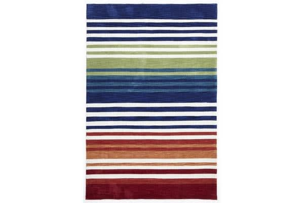 Modern Abrash Stripes Rug Multi Rust 225x155cm