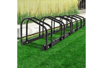 1  6 Bike Floor Parking Rack Instant Storage Stand Bicycle Cycling Portable BK