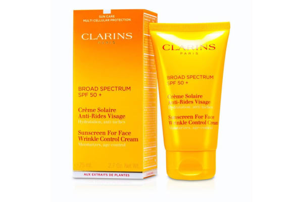 Clarins Sunscreen Wrinkle Control Cream High Protection For Face SPF 50+ (75ml/2.7oz)