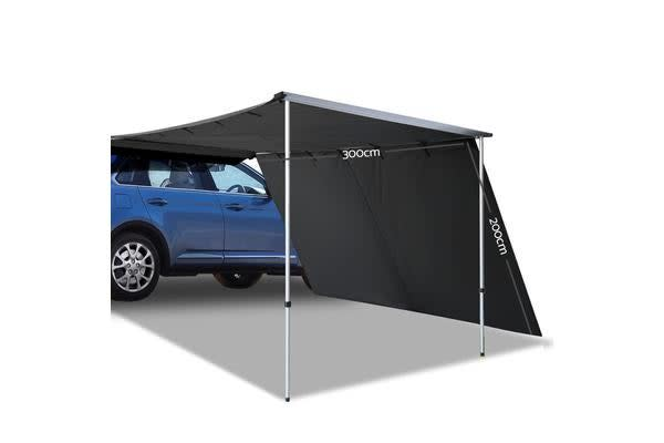 Weisshorn 2M X 3M Side Roof Car Awning Extension (Charcoal)