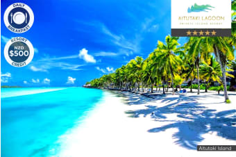 COOK ISLANDS: 5 Nights at Aitutaki Lagoon Private Island Resort for Two