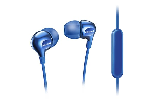 Philips In-EarGel Headphones with Mic - Blue (SHE3705BL)