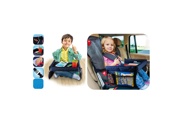 Baby Safety Car Seat Travel Tray Kids Snack/Play Table Drawing Board Waterproof
