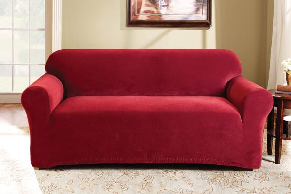 SureFit Pearson Sofa Cover 2 Seater - Red
