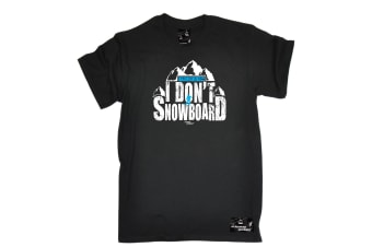 Powder Monkeez Snowboarding Tee - Board You Lost Me At I Dont Go Mens T-Shirt