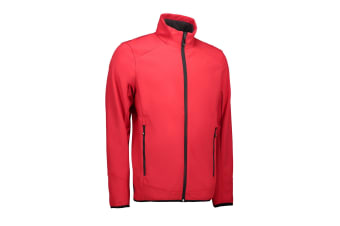 ID Mens Functional Soft Shell Jacket (Red) (S)