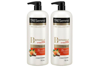 2x TRESemme 750ml Shea Butter/Hibiscus Botanique Conditioner Curl Hair Hydration