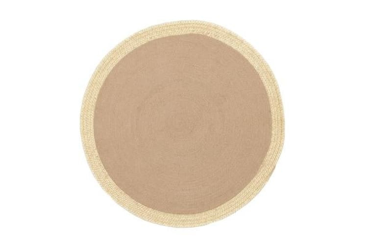 Milano Metallic Gold and Natural Jute Rug 150x150cm