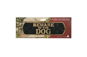 Best Pets Beware Of The Dog Cast Iron Sign (May Vary)