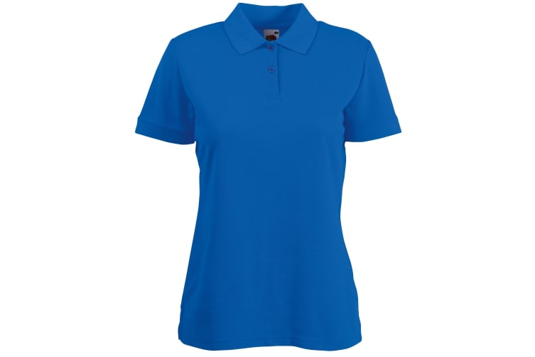Fruit Of The Loom Womens Lady-Fit 65/35 Short Sleeve Polo Shirt (Royal) (XL)