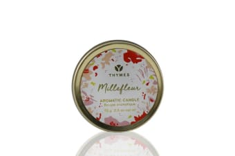 Thymes Aromatic Candle (Travel Tin) - Millefleur 70g
