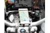 Bicycle & Motorcycle Phone Mount ,for iPhone X XR Xs 7s 8 Plus, Samsung S7/S6/Note5/4 GPS, Mount 4 to 6.5 Inch(TITANIUM COLOR)