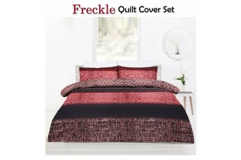 Freckle Brown Quilt Cover Set DOUBLE