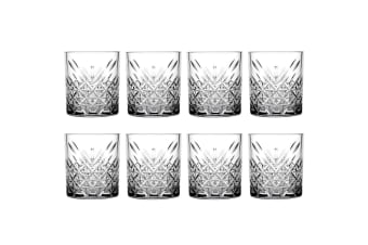 8pc Pasabahce Timeless 345ml Clear Double Old Fashioned Alcohol Whiskey Glasses