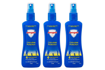 3PK Aerogard 175ml Adults/Kids Odourless Insect Repellant Roll On 4h Protection