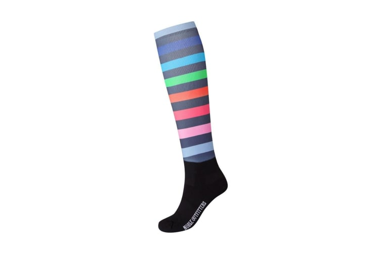 Noble Outfitters Womens/Ladies Over The Calf Printed Peddies (Gradient Stripe) (4-7.5 UK)