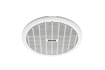 Heller 200mm Exhaust Ball Bearing Fan Bathroom Ventilation Ceiling Round White