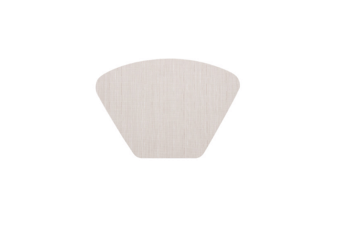 Pvc Teslin Fan-Shaped Slip-Proof And Heat-Insulating Mat Tableware Cushion Rice White