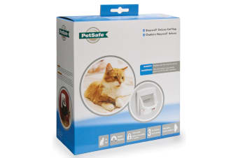 Petsafe Staywell Deluxe Magnetic Cat Flap (White) (One Size)