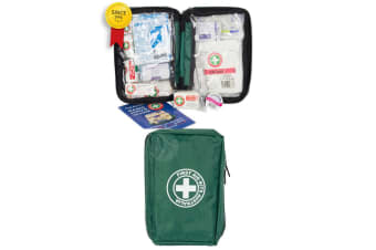 Green Emergency First Aid Kit Home/Travel/Travelling/Car/ Safety Medical Injury