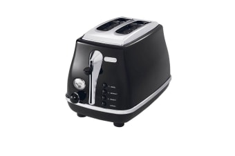 DeLonghi Icona 2 Slice Toaster Black