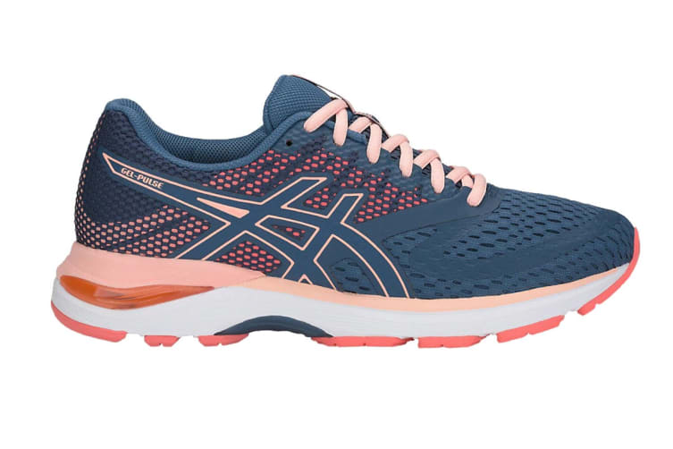 ASICS Women's GEL-Pulse 10 Running Shoe (Grand Shark/Baked Pink, Size 9.5)