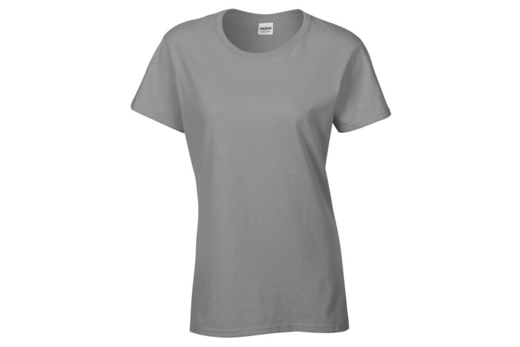 Gildan Ladies/Womens Heavy Cotton Missy Fit Short Sleeve T-Shirt (Graphite Heather) (M)