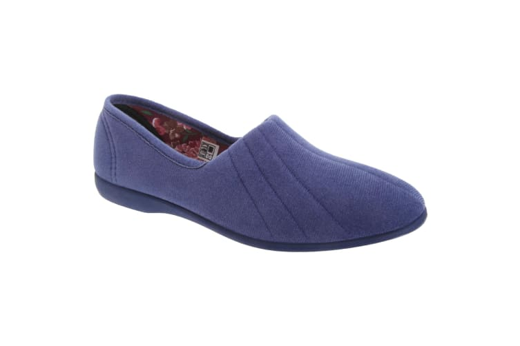 GBS Audrey Ladies Slipper / Womens Slippers (Blueberry) (3 UK)