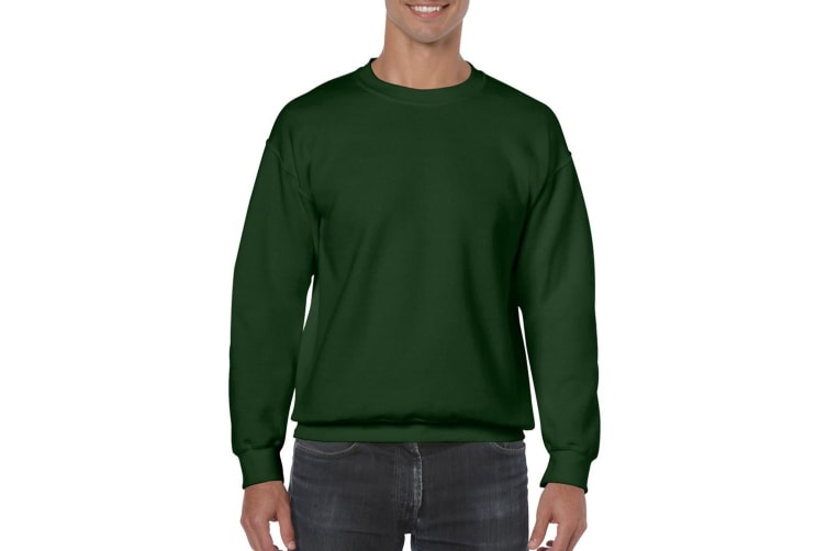 Gildan Heavy Blend Unisex Adult Crewneck Sweatshirt (Forest Green) (M)