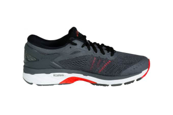 ASICS Men's Gel-Kayano 24 Running Shoe (Dark Grey/Black/Fiery Red)