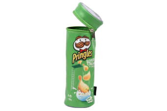 Helix Pringles Pencil Case/Pouch/Storage School/Art Drawing Pens Organiser Green