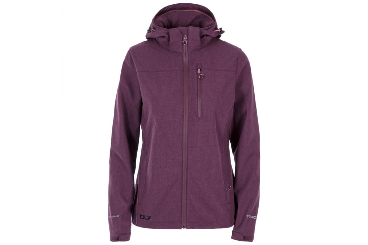Trespass Womens/Ladies Claren II Waterproof Softshell Jacket (Fig Marl) (M)