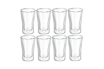 8pc Avanti Uno Double Wall Glass 250ml Hot Cold Thermal Glasses Expresso Cups