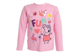 Peppa Pig Girls Fun Long Sleeved T-Shirt (Pink) (2-3 Years)