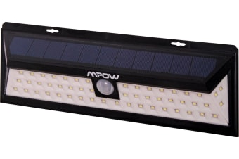 54 LEDs 1188 lumens weatherproof IP65 solar PIR light three modes are available active only at night time