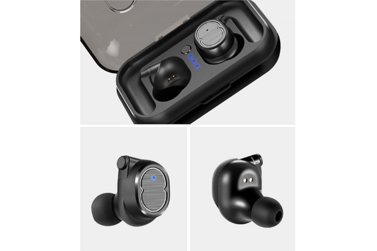 Sweatproof Earpiece Noise Cancelling Sports Earphones For Workout And Running Black