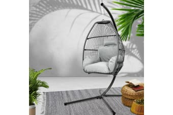 Outdoor Furniture Egg Hammock Hanging Swing Chair Stand Pod Wicker
