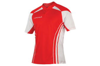 KooGa Mens Stadium Match Rugby Shirt (Red/White)