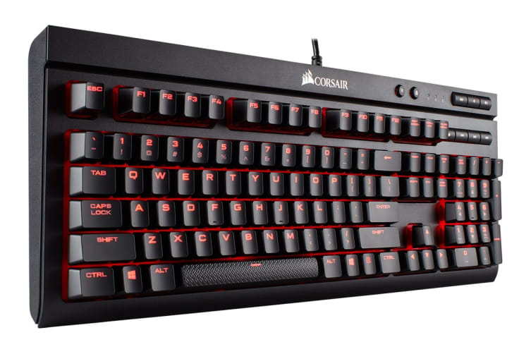 Corsair K68 IP32 Spill Resistant Mechanical Keyboard - Cherry MX Red with Red LED