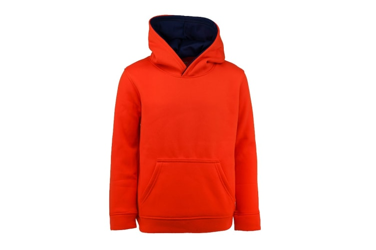 Champion Boys' Solid Performance Pullover Hoodie (Dark Orange, Size S)