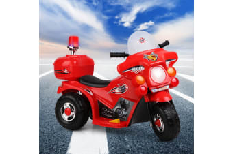 Kids Ride On Motorcycle Motorbike Patrol Battery Electric Toy Police