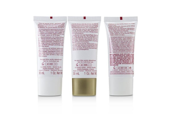 Clarins Extra-Firming 40+ Anti-Ageing Skincare Set:Gentle Refiner 30ml +Extra-Firming Day Cream 30ml+ Beauty Flash Balm 30ml 3pcs